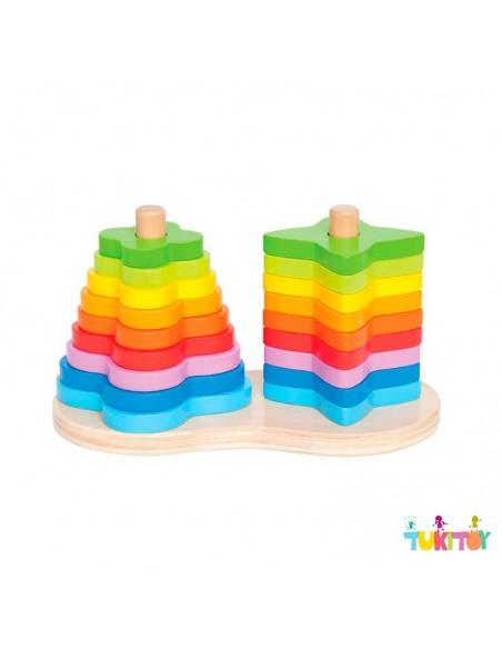 Juego apilable arco iris - Hape